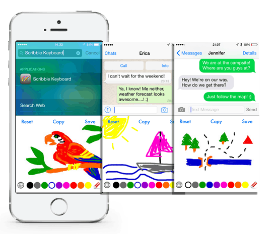 Scribble Keyboard app for apple and android